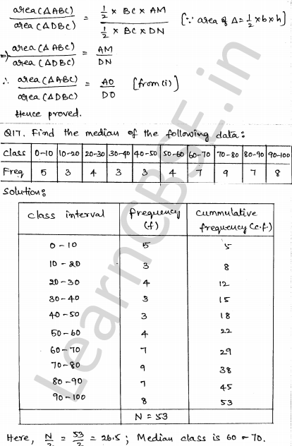 Sample Papers for Class 10 Maths Solved paper 4 12