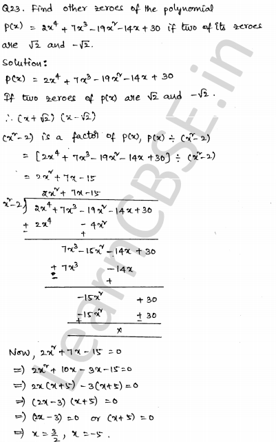 Maths Sample Question Papers for Class 1o Paper 4 18