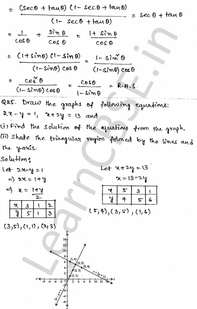 Maths Sample Question Papers for Class 10 Set 4 20