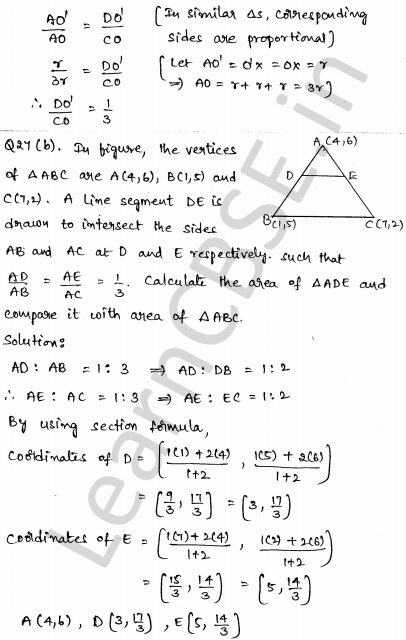 Maths Sample Question Papers for Class 10 Paper 4 24