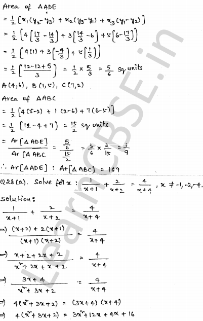 Solved CBSE Sample Papers for Class 10 Maths Paper 4 25
