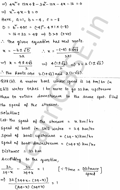 CBSE Sample Papers for Class 10 Maths Solved paper 4 26