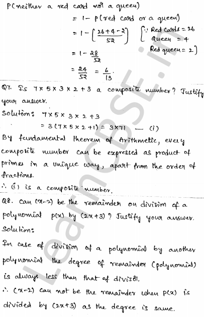 Solved CBSE Sample Papers for Class 10 Maths Paper 4 3