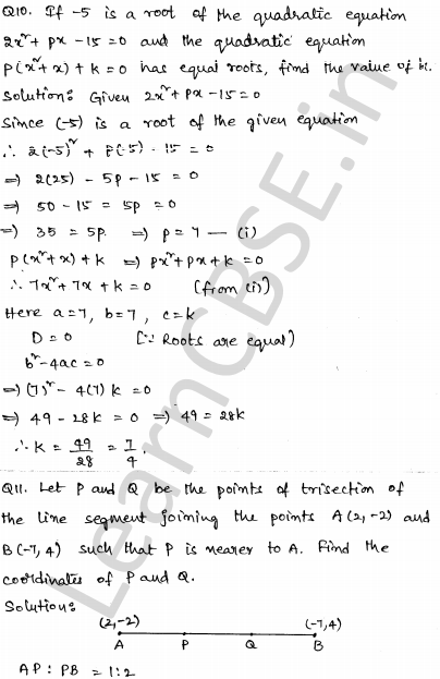 CBSE Sample Papers for Class 10 Maths Solved paper 4 5