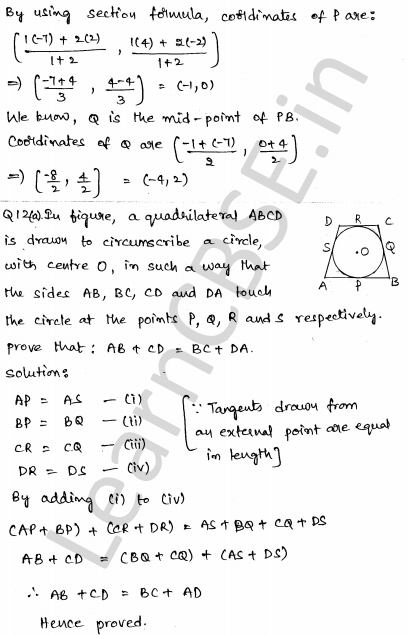 CBSE Sample Papers for Class 10 Maths Solved paper 4 6