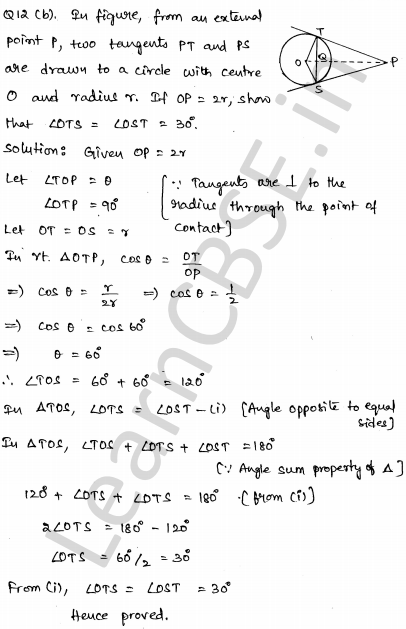 CBSE Sample Papers for Class 10 Maths Set 4 7