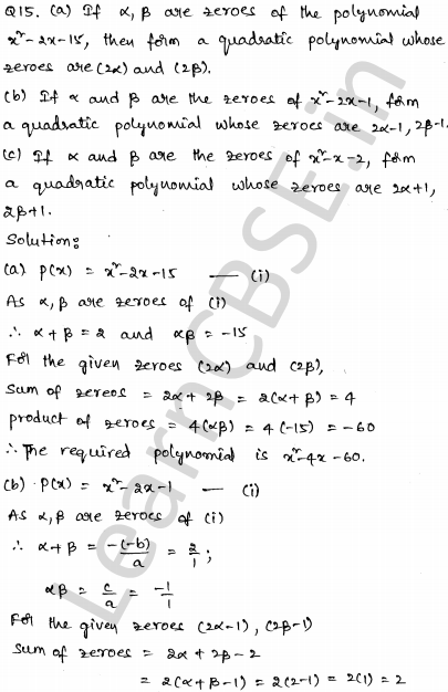 CBSE Sample Papers for Class 10 Maths Set 4 9