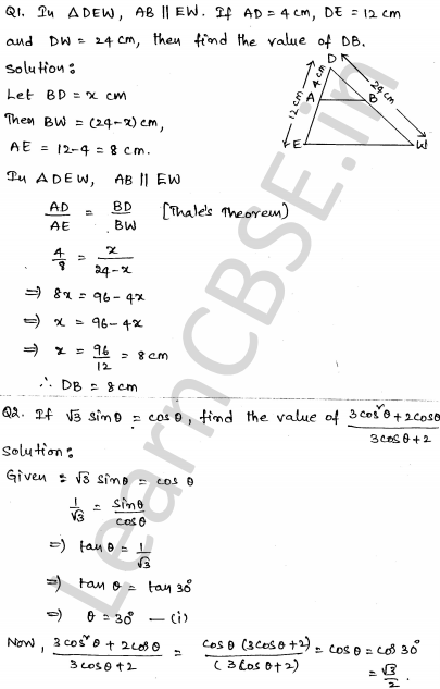 Solved CBSE Sample Papers for Class 10 Maths Paper 5 1