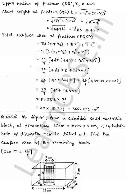Maths Sample Question Papers for Class 1o Paper 5 18
