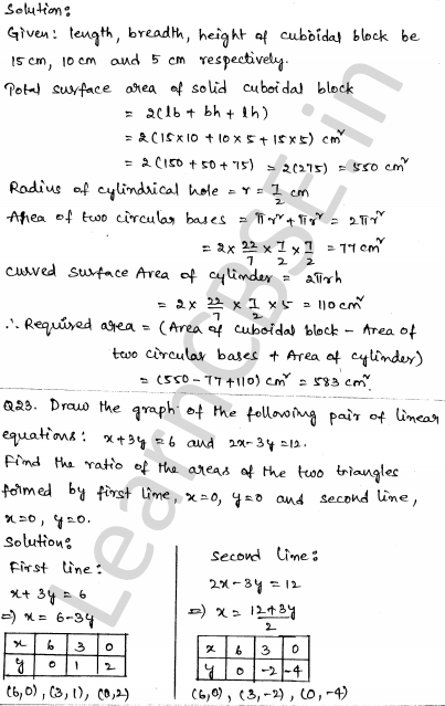 Maths Sample Question Papers for Class 10 Set 5 19