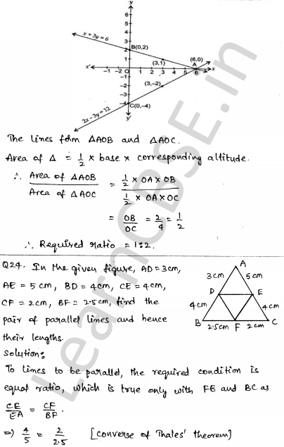 Maths Sample Question Papers for Class 10 Set 5 20