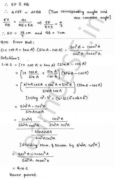 Maths Sample Question Papers for Class 10 Set 5 21