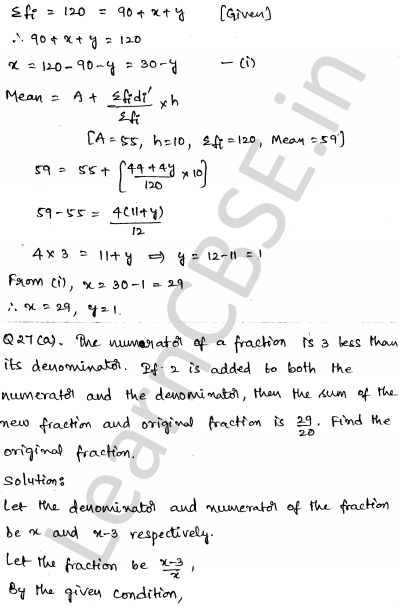Maths Sample Question Papers for Class 10 Paper 5 24