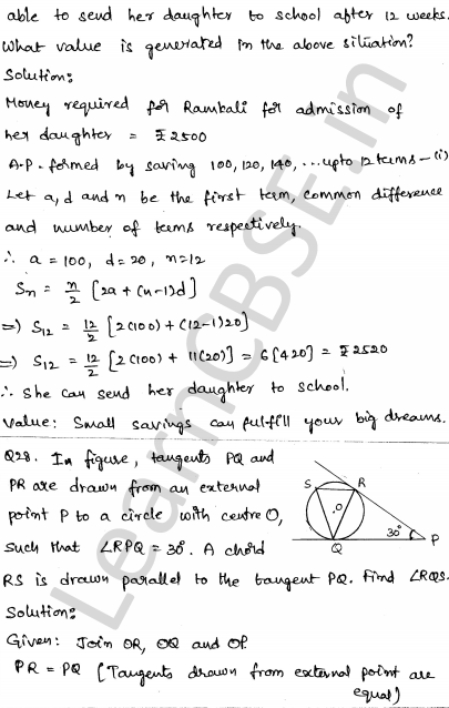 CBSE Sample Papers for Class 10 Maths Solved paper 5 26