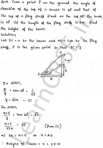 Sample Papers for Class 10 Maths Solved paper 5 28