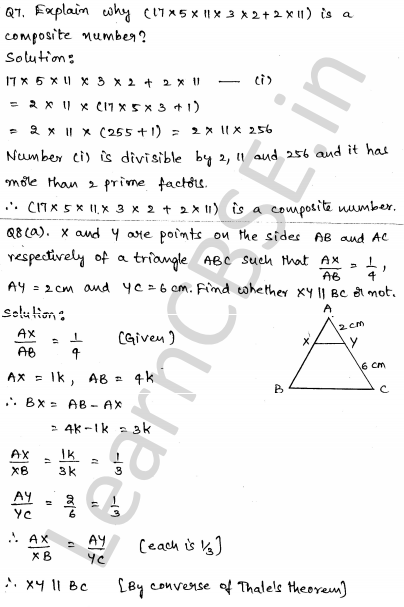 CBSE Sample Papers for Class 10 Maths Solved paper 5 4