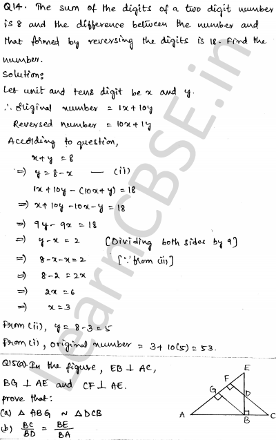 CBSE Sample Papers for Class 10 Maths Set 5 8