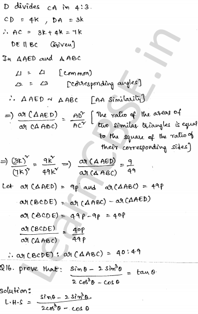 Sample Papers for Class 10 Maths Solved paper 6 12