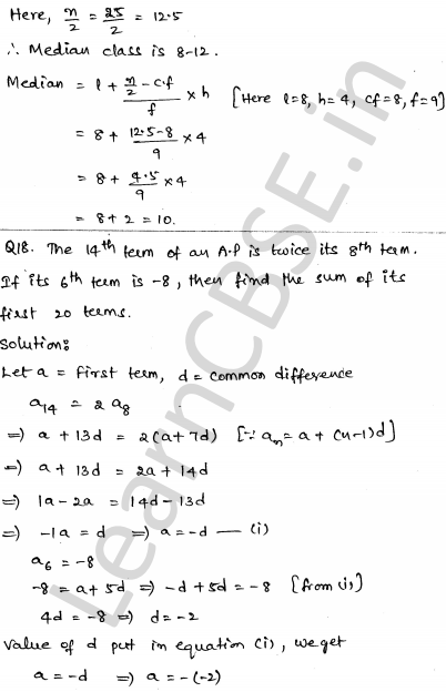 Maths Sample Papers for Class 10 Set 6 14