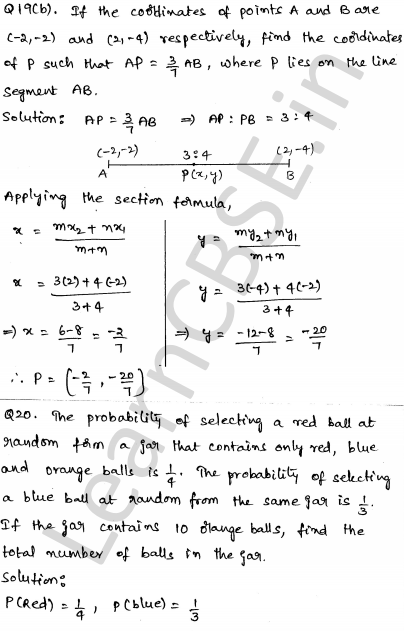 Maths Sample Question Papers for Class 1o Paper 6 16