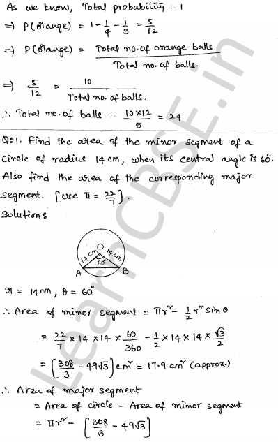 Maths Sample Question Papers for Class 1o Paper 6 17