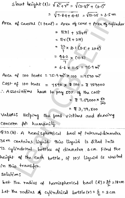 Maths Sample Question Papers for Class 10 Set 6 19