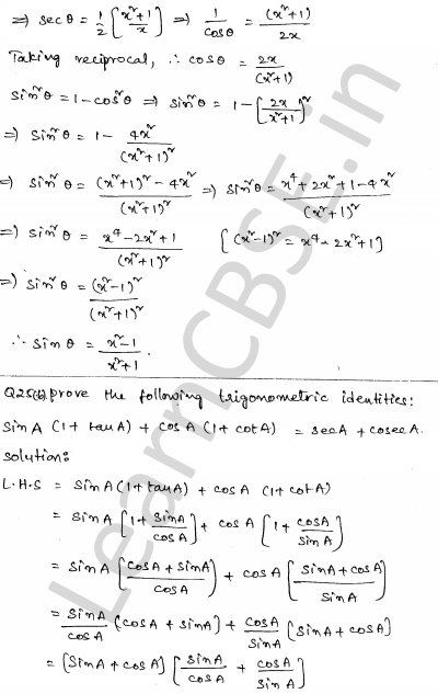 Maths Sample Question Papers for Class 10 Paper 6 23