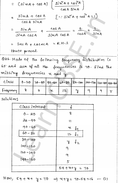 Maths Sample Question Papers for Class 10 Paper 6 24