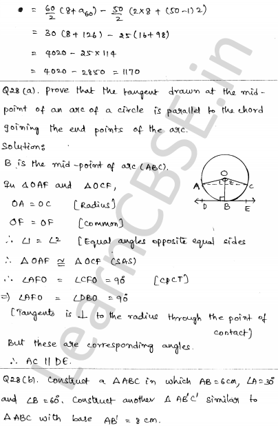CBSE Sample Papers for Class 10 Maths Solved paper 6 26