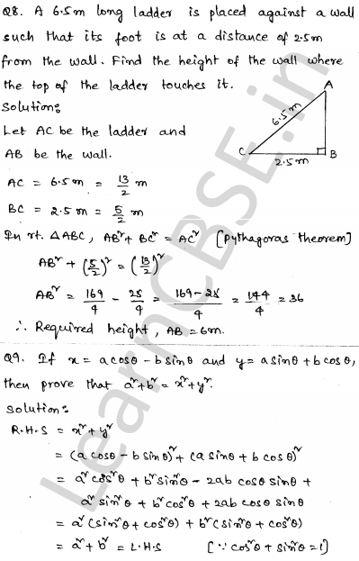 CBSE Sample Papers for Class 10 Maths Solved paper 6 5