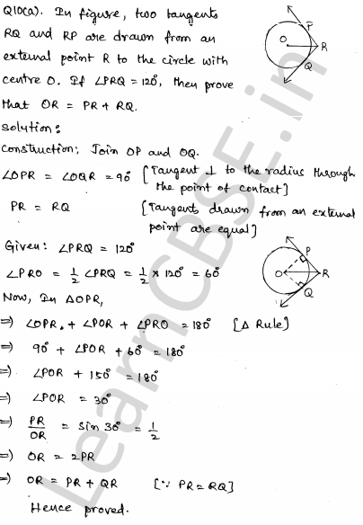 CBSE Sample Papers for Class 10 Maths Solved paper 6 6