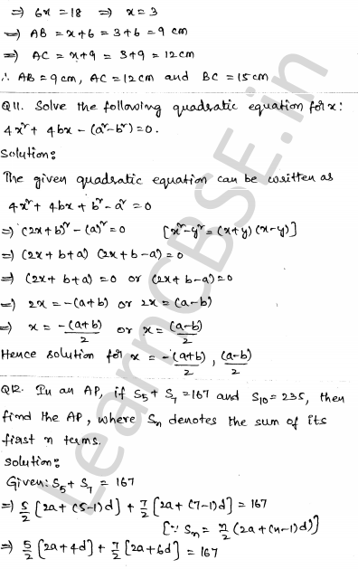 CBSE Sample Papers for Class 10 Maths Set 6 8