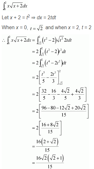NCERT Class 12 Solutions Integrals Ex 7.10 Q 8