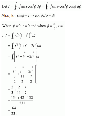 NCERT Solutions of Class 12 Maths Chapter 7 Integrals Ex 7.10 Q 3