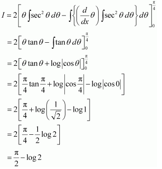 NCERT Solutions of Class 12 Maths Chapter 7 Integrals Ex 7.10 Q 5 - i