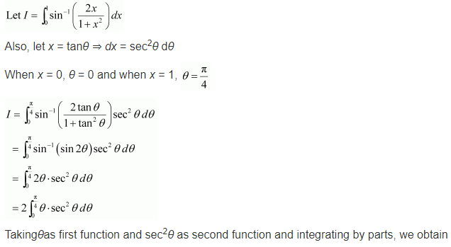 NCERT Solutions of Class 12 Maths Chapter 7 Integrals Ex 7.10 Q 5