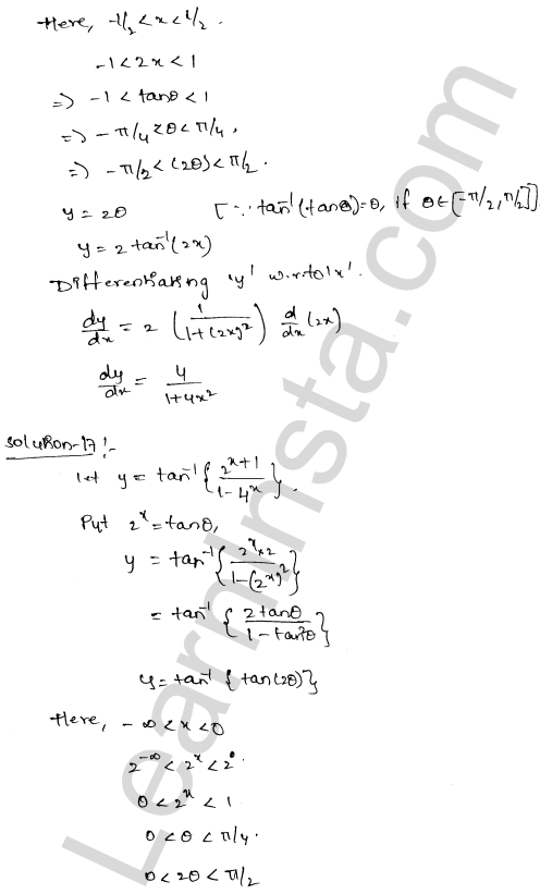 RD Sharma Solutions Class 12 Differentiation Chapter 11 Ex 11.3 11