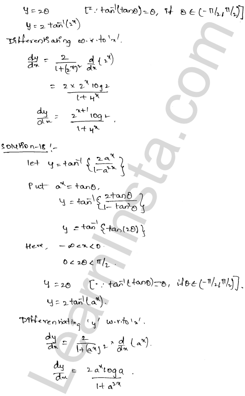 RD Sharma Solutions Class 12 Differentiation Chapter 11 Ex 11.3 12