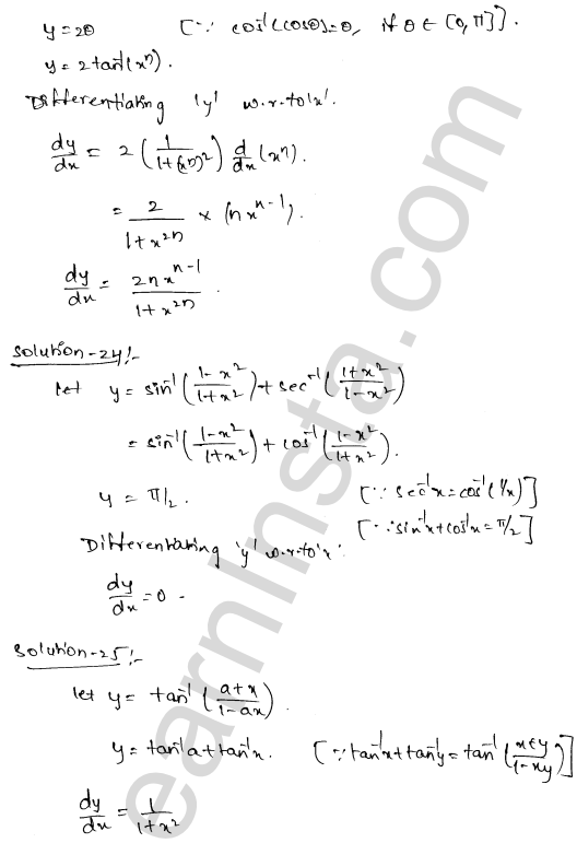 Class 12 RD Sharma solutions chapter 11 Differentiation Ex 11.3 16