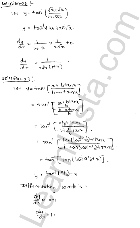 Class 12 RD Sharma solutions chapter 11 Differentiation Ex 11.3 17