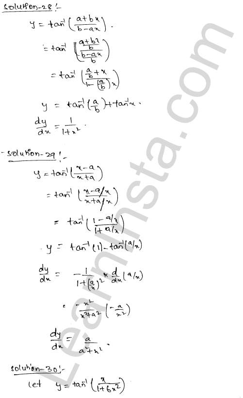 Class 12 RD Sharma solutions chapter 11 Differentiation Ex 11.3 18