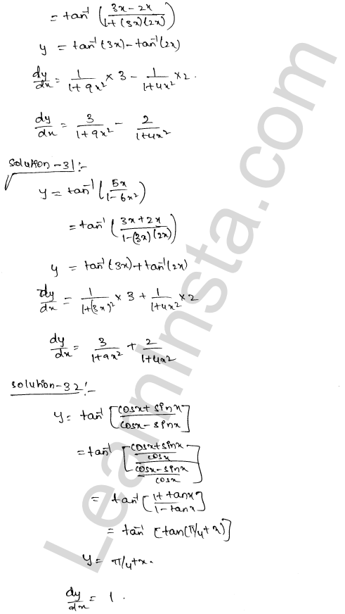 Class 12 RD Sharma solutions chapter 11 Differentiation Ex 11.3 19