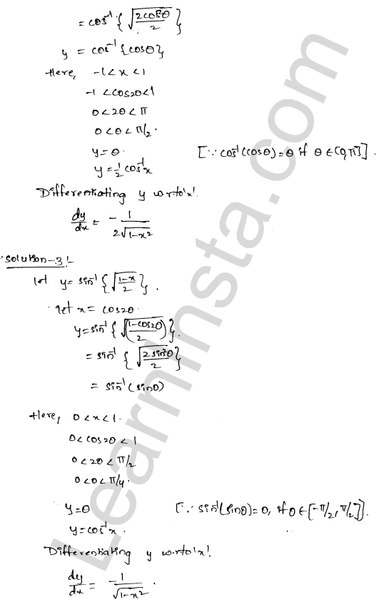 RD Sharma Class 12 Solutions Chapter 11 Differentiation Ex 11.3 2