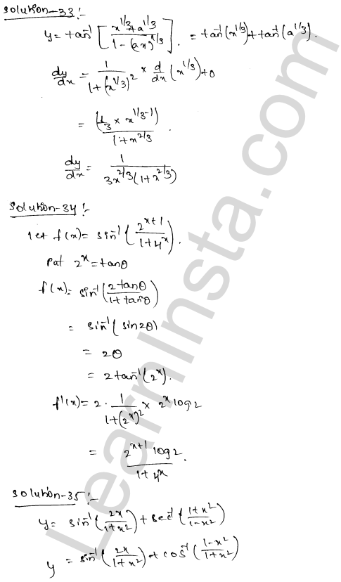 Class 12 RD Sharma solutions chapter 11 Differentiation Ex 11.3 20
