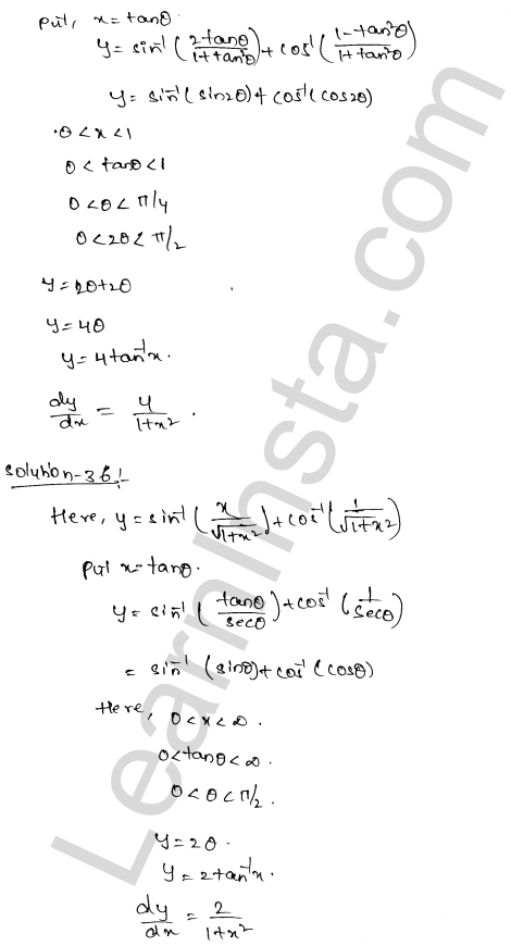 Class 12 RD Sharma maths solutions chapter 11 Differentiation Ex 11.3 21