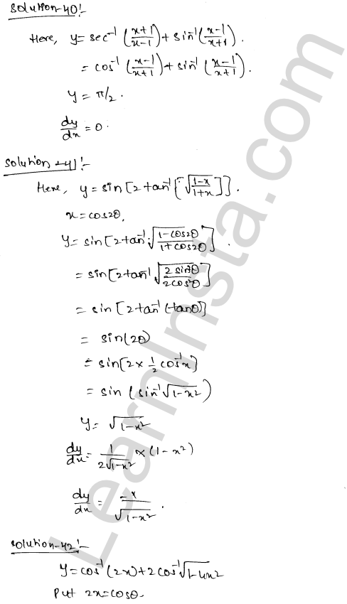 Class 12 RD Sharma maths solutions chapter 11 Differentiation Ex 11.3 24