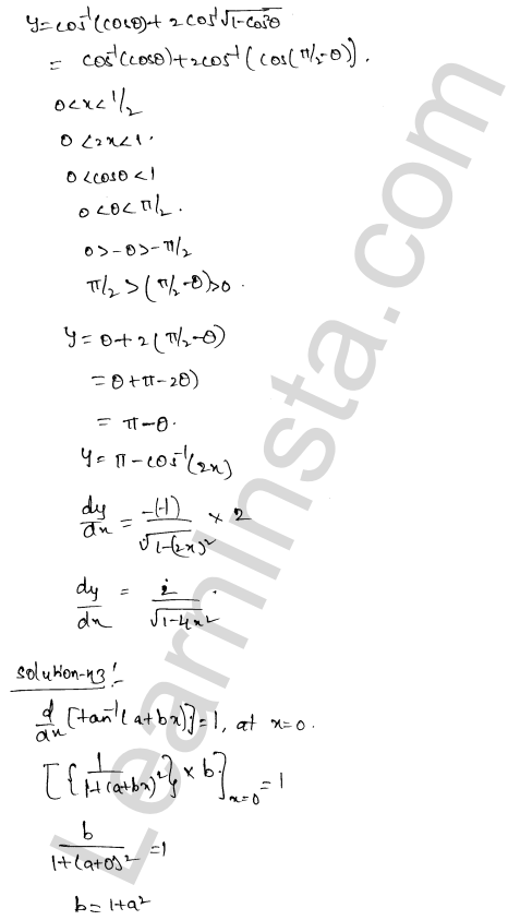 Solution of RD Sharma class 12 chapter 11 Differentiation Ex 11.3 25