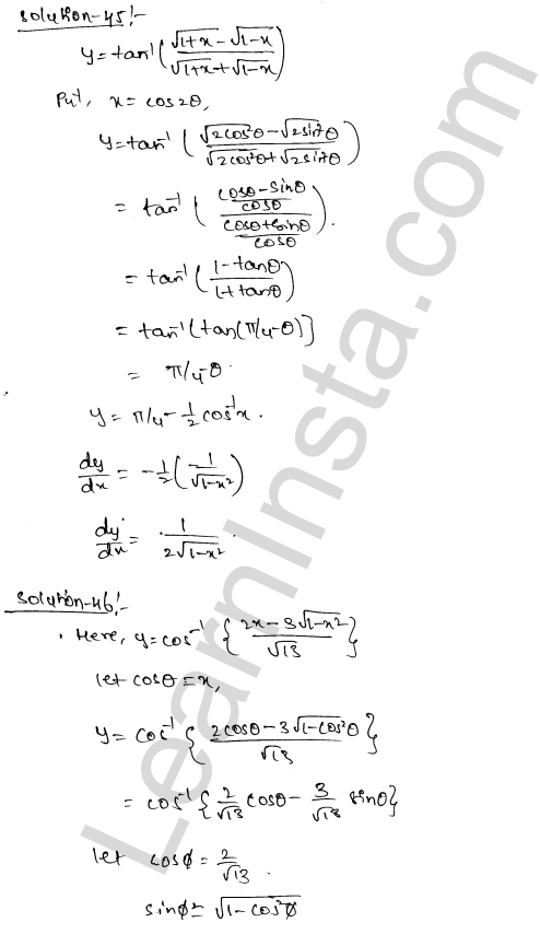 Solution of RD Sharma class 12 chapter 11 Differentiation Ex 11.3 27