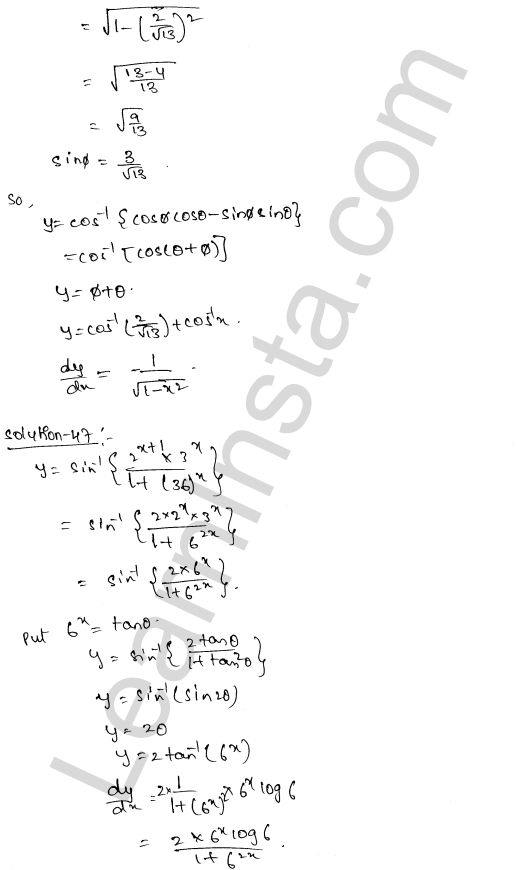 Solution of RD Sharma class 12 chapter 11 Differentiation Ex 11.3 28