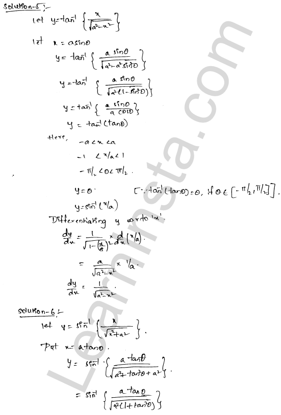 RD Sharma Class 12 Solutions Chapter 11 Differentiation Ex 11.3 3